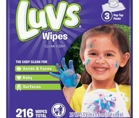 Save $0.50 off (2) Pampers or Luvs Baby Wipes Coupon