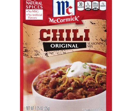 Save $0.25 off (1) Mccormick Original Chili Coupon