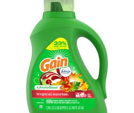 Save $4.00 off (2) Gain Tropical Sunrise Detergent Coupon