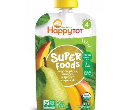 Save $1.00 off (3) Happy Baby Organics & Happy Tot Organics Coupon
