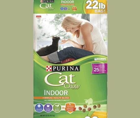 Save $2.25 off (1) Purina Cat Chow Indoor Cat Food Coupon