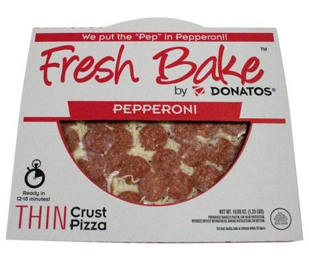 Save $2.00 off (1) Donatos Thin Crust Pepperoni Pizza Coupon