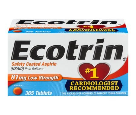 Save $1.00 off (1) Ecotrin Safety Coated Aspirin Coupon