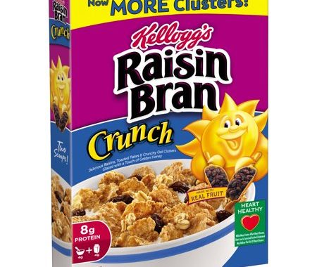 Save $0.50 off (1) Kellogg's Raisin Bran Crunch Cereal Coupon