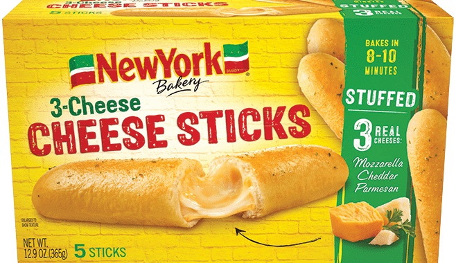 Save $1.00 off (1) New York Bakery 3 Cheese Sticks Coupon