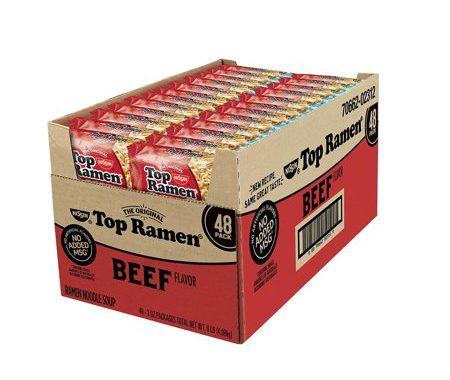 Save $1.00 off (1) Nissin Top Ramen Beef Flavor Coupon