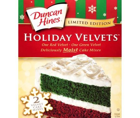 Save $0.50 off (1) Duncan Hines Holiday Velvet Cake Mix Coupon