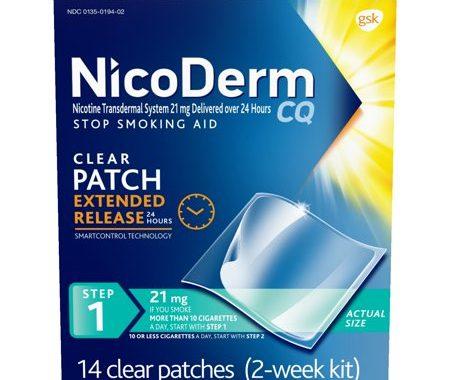 Save $10.00 off (1) NicoDerm CQ Nicotine Patch Printable Coupon