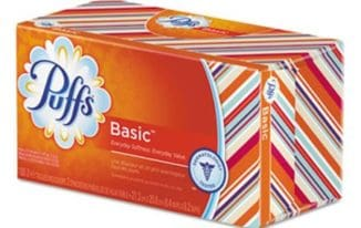 Save $2.50 off (1) Puffs White Facial Tissue Coupon
