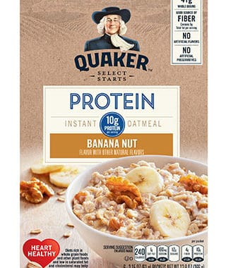 Save $1.00 off (1) Quaker Protein Instant Oatmeal Printable Coupon