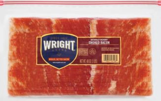 Save $2.50 off (1) Wright Brand Thick Cut Bacon Coupon