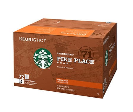 Save $7.00 off (1) Starbucks Pike Place K-Cups Coupon