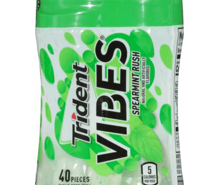 Save $0.50 off (1) Trident Vibes Chewing Gum Bottle Coupon